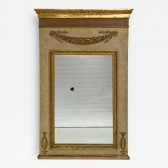 Circa 1830 Large Neoclassical Painted and Giltwood Mirror - 1832873