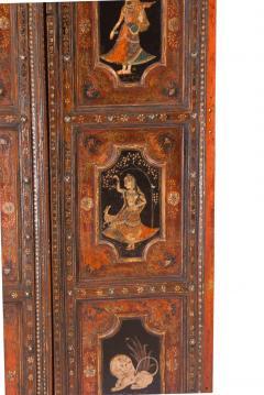 Circa 1830 Painted Indian Palace Doors A Pair - 2145218