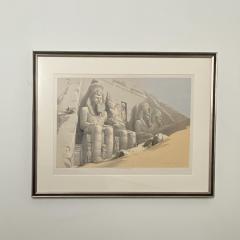 Circa 1847 The Great Temple of Aboo Simble Lithograph David Roberts England - 2029344