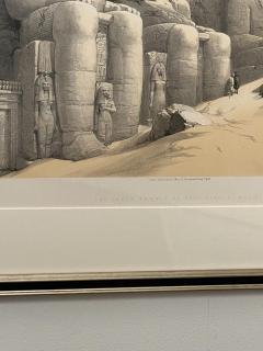 Circa 1847 The Great Temple of Aboo Simble Lithograph David Roberts England - 2029345