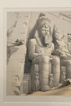 Circa 1847 The Great Temple of Aboo Simble Lithograph David Roberts England - 2029346