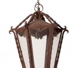 Circa 1850 Italian Wrought Iron Lantern - 1846770