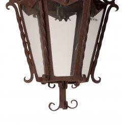 Circa 1850 Italian Wrought Iron Lantern - 1846771