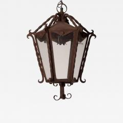 Circa 1850 Italian Wrought Iron Lantern - 1847136