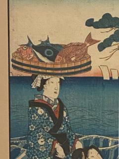 Circa 1860 Woodblock Print Japan - 1798240