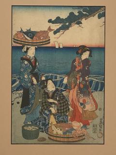 Circa 1860 Woodblock Print Japan - 1798241
