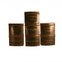 Circa 1870 English Tole Bakery Tins Set of 7 - 2066991