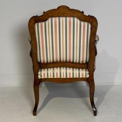 Circa 1870 Louis XV Style Walnut Open Armchair France - 2066918