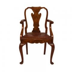 Circa 1880 George II Style Walnut Armchair - 1965439