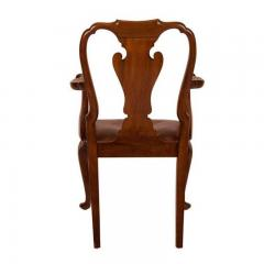 Circa 1880 George II Style Walnut Armchair - 1965442