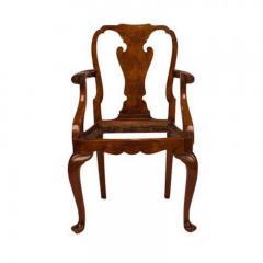 Circa 1880 George II Style Walnut Armchair - 1965443