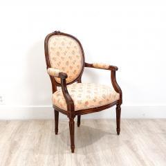 Circa 1890 French Walnut Armchair - 2015013