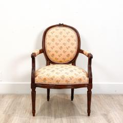 Circa 1890 French Walnut Armchair - 2015014