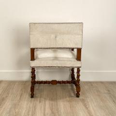 Circa 18th Century Baroque Walnut Armchair Italy - 1935465