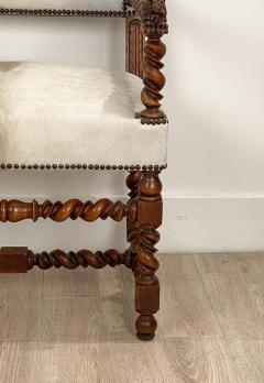 Circa 18th Century Baroque Walnut Armchair Italy - 1935469