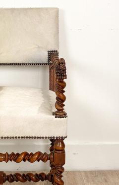 Circa 18th Century Baroque Walnut Armchair Italy - 1935471