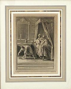 Circa 18th Century La Chate Metamorphosee En Femme Engraving France - 1855755