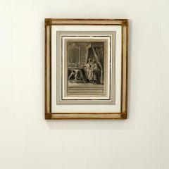 Circa 18th Century La Chate Metamorphosee En Femme Engraving France - 1855758
