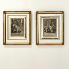 Circa 18th Century La Chate Metamorphosee En Femme Engraving France - 1855761