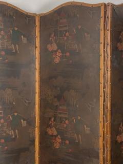 Circa 1900 4 Panel Leather Screen Spain - 1951995