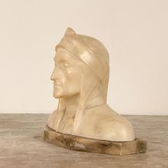 Circa 1900 Alabaster and Marble Bust of Dante - 2062912