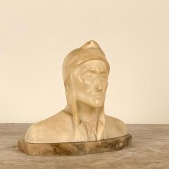 Circa 1900 Alabaster and Marble Bust of Dante - 2062913