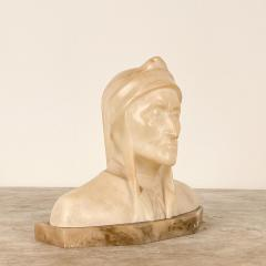 Circa 1900 Alabaster and Marble Bust of Dante - 2062914