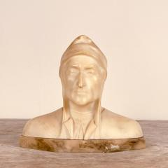 Circa 1900 Alabaster and Marble Bust of Dante - 2062915