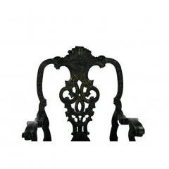 Circa 1900 Baroque Revival Green Armchairs Portugal A Pair - 1862855