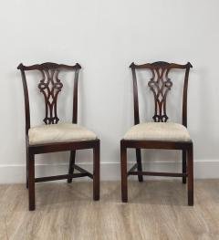 Circa 1900 Set of 8 Chippendale Style Dining Chairs England - 1904761