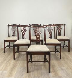 Circa 1900 Set of 8 Chippendale Style Dining Chairs England - 1904764
