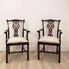 Circa 1900 Set of 8 Chippendale Style Dining Chairs England - 1904767