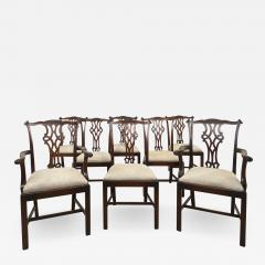 Circa 1900 Set of 8 Chippendale Style Dining Chairs England - 1907182