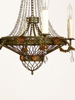 Circa 1900 Tole and Gilt Pendant Chandelier Italy - 1902834
