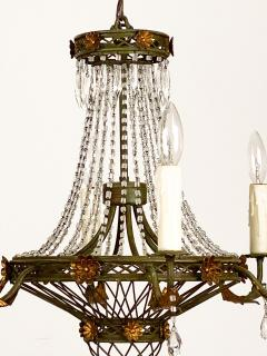 Circa 1900 Tole and Gilt Pendant Chandelier Italy - 1902835