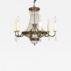Circa 1900 Tole and Gilt Pendant Chandelier Italy - 1905011