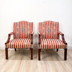 Circa 1910 Chinese Chippendale Style Armchairs England A Pair - 1940751