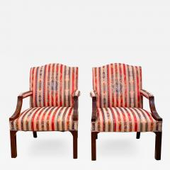 Circa 1910 Chinese Chippendale Style Armchairs England A Pair - 1942336