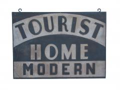 Circa 1920 Double Sided Tourist Home Modern Sign - 97613
