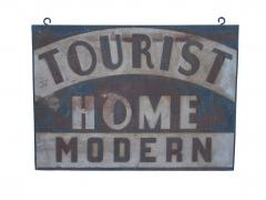 Circa 1920 Double Sided Tourist Home Modern Sign - 97617