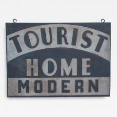 Circa 1920 Double Sided Tourist Home Modern Sign - 97771