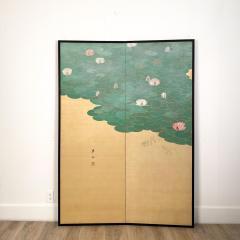 Circa 1920 Taisho Period 2 Panel Screen Japan - 1944072