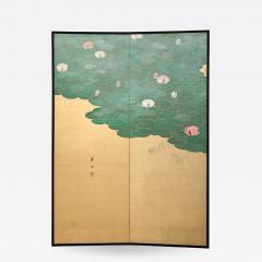 Circa 1920 Taisho Period 2 Panel Screen Japan - 1947246