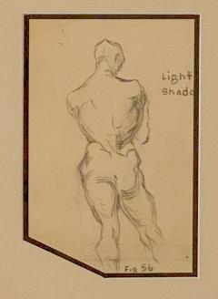 Circa 1940s Academic Drawing of a Man - 2071527