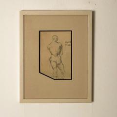 Circa 1940s Academic Drawing of a Man - 2071528