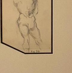 Circa 1940s Academic Drawing of a Man - 2071529