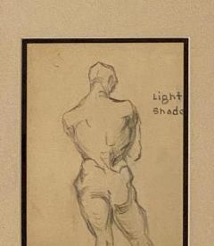 Circa 1940s Academic Drawing of a Man - 2071530