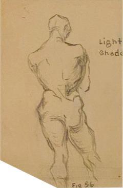 Circa 1940s Academic Drawing of a Man - 2072188