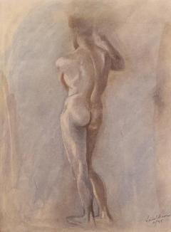 Circa 1950 Figural Sketch American - 2032120