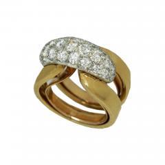 Circa 1950 gold diamond ring  - 1002017
